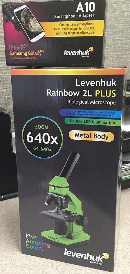 CLevenhuk A10 Smartphone Adapter and Levenhuk Rainbow 2L PLUS Microscope are a perfect combination!