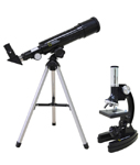 Bresser National Geographic Set: 50/360 AZ Telescope and 300–1200x Microscope